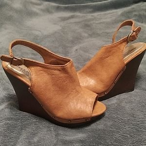 Charlotte Russe Wedge Heel Sandals Size 7.5